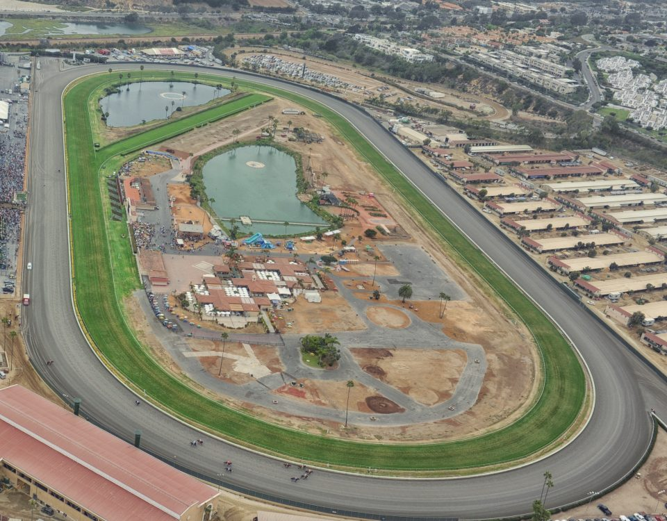 Aerial view of Del Mar fairgrounds