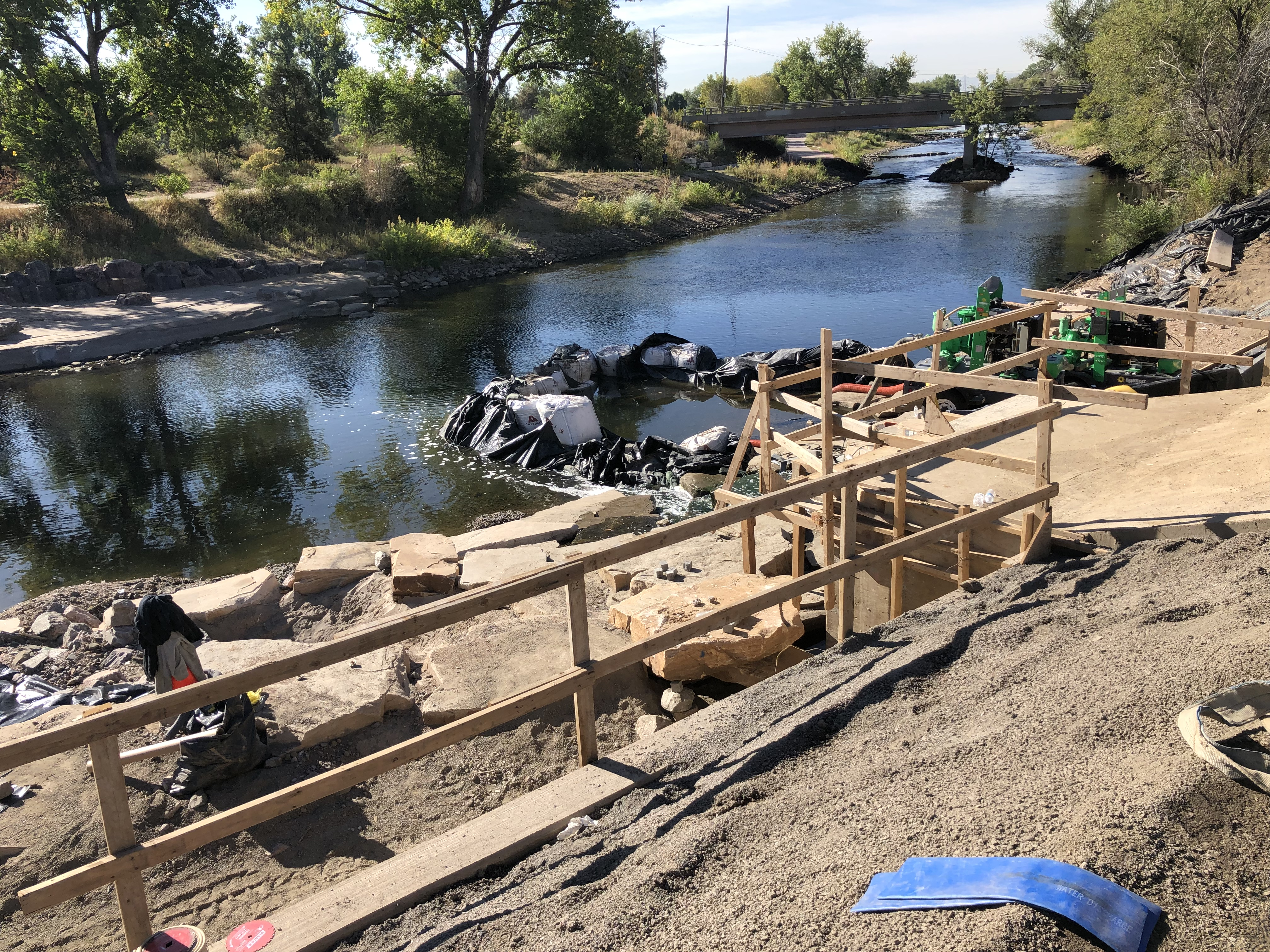 Sanderson Gulch Outfall at S. Platte River, Under Construction