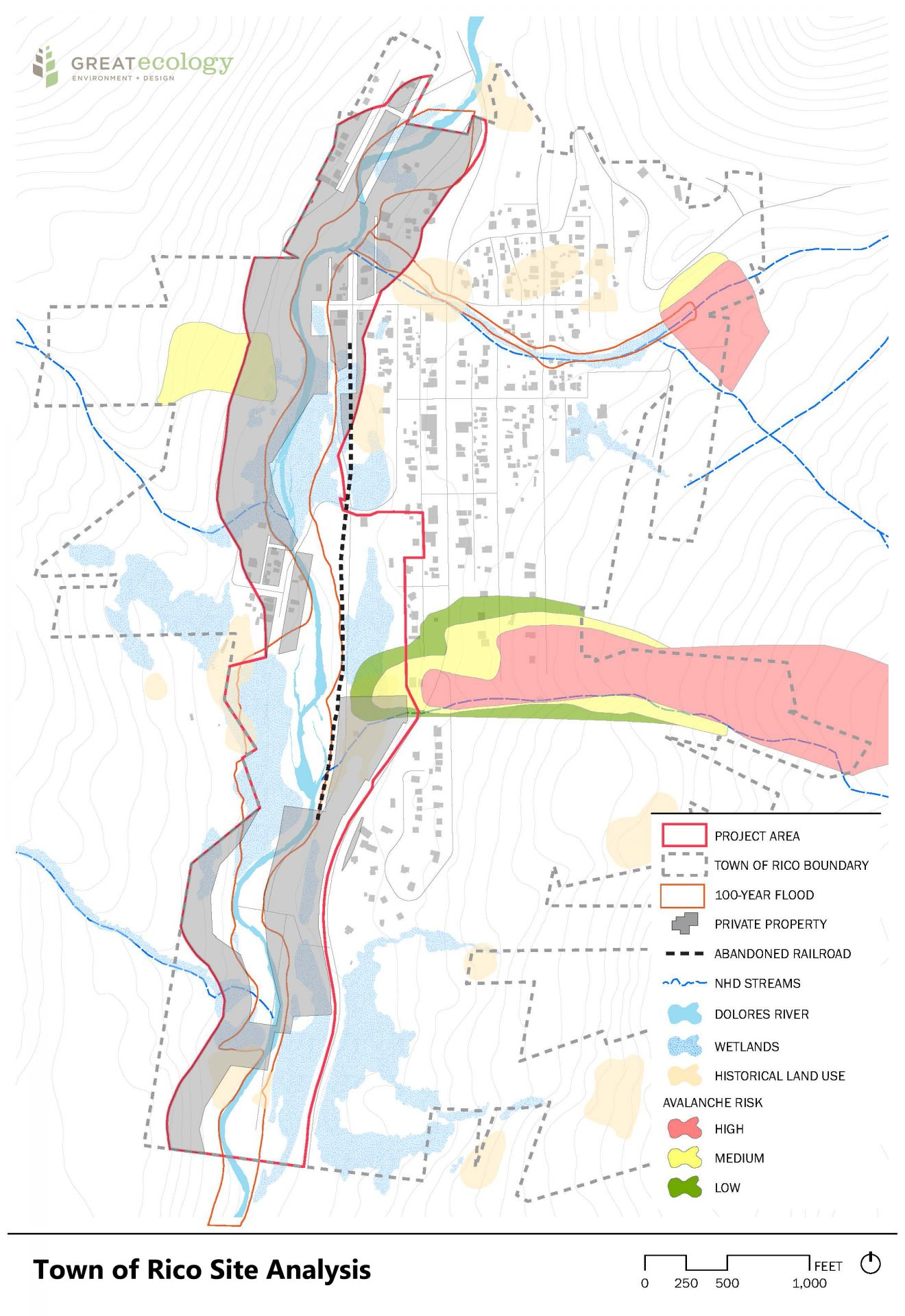 Town of Rico Site Analysis Map