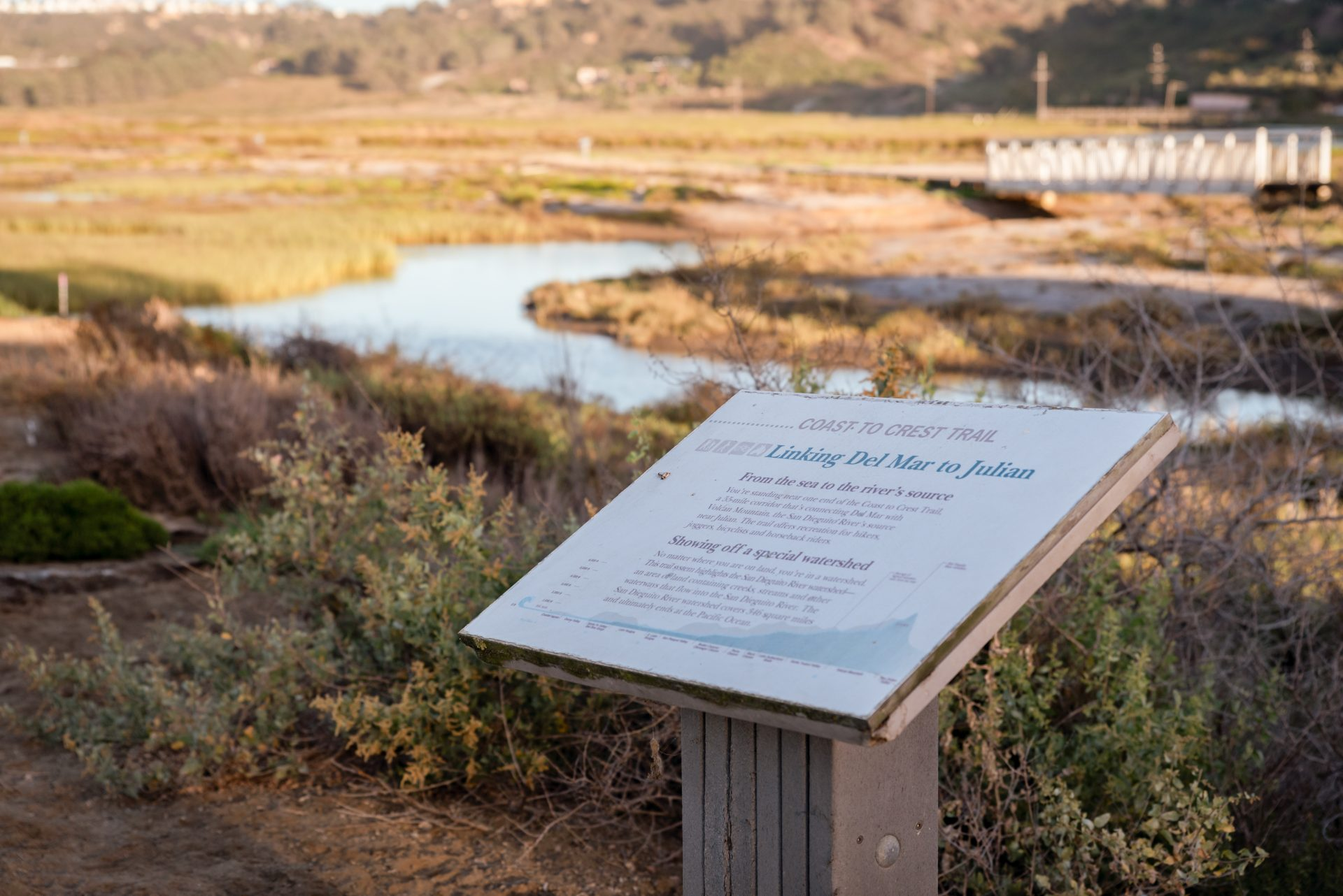 Coast to Crest Trail Sign